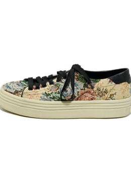 Saint Laurent Sneakers Shoe Size US 8 Beige Canvas Multi Print Shoes 2