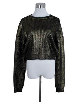 Saint Laurent Black Gold Wool Sweater 1
