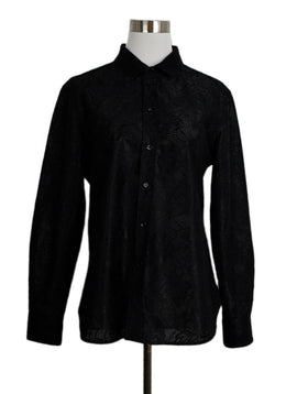 Blouse Saint Laurent Black Lace Top 1