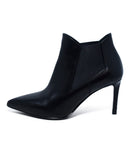 Saint Laurent Black Leather Booties 2