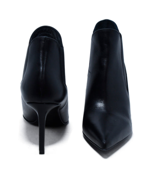 Saint Laurent Black Leather Booties 3