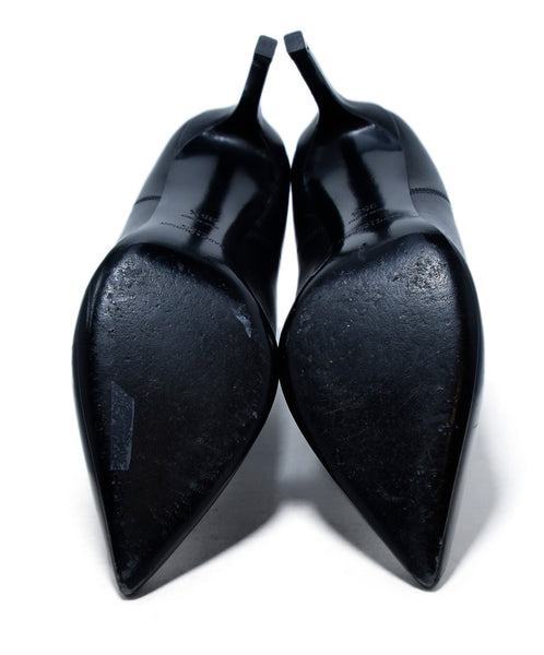 Saint Laurent Black Leather Booties 5