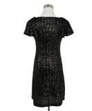 Saint Laurent Black Sequins Dress 3