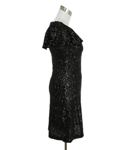 Saint Laurent Black Sequins Dress 2