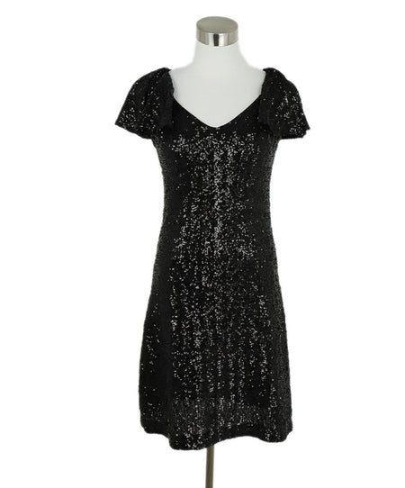Akris Black Embroidery Fringe Dress Sz 6
