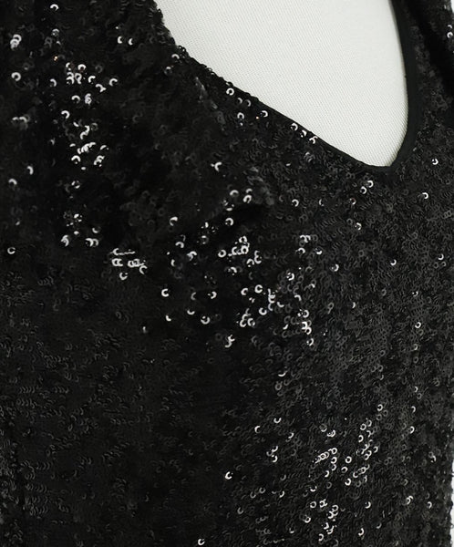 Saint Laurent Black Sequins Dress 5