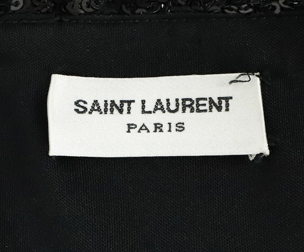 Saint Laurent Black Sequins Dress 4