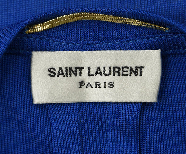 Saint Laurent Blue Silk T-Shirt sz. 2 | Saint Laurent