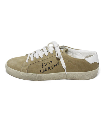 Saint Laurent tan suede sneakers 1