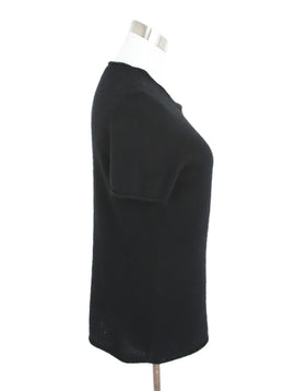 Saks Black Cashmere Knit Top 2