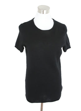 Saks Black Cashmere Knit Top 1