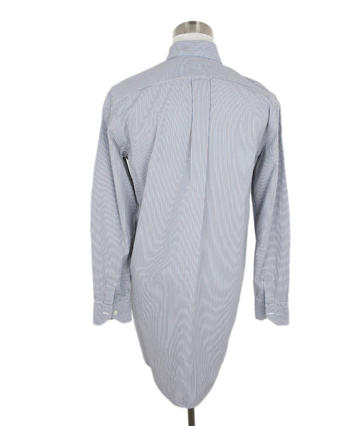 Salvatore Piccolo Blue and White Striped Blouse 3
