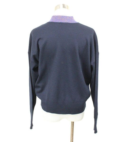 Sandro Blue Navy Acrylic Wool Sweater 2