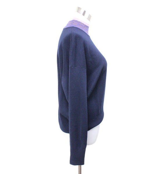 Sandro Blue Navy Acrylic Wool Sweater 1