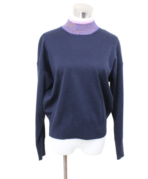 Sandro Blue Navy Acrylic Wool Sweater