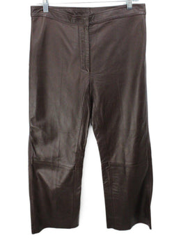 Sandro Brown Leather Pants 1