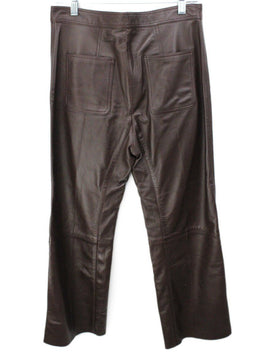Sandro Brown Leather Pants 2