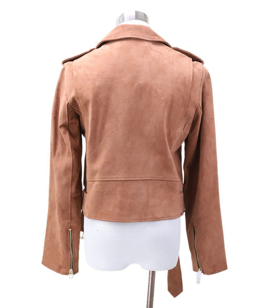 Sandro Brown Suede Jacket 2