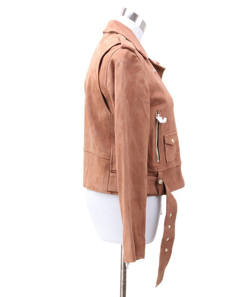 Sandro Brown Suede Jacket 1
