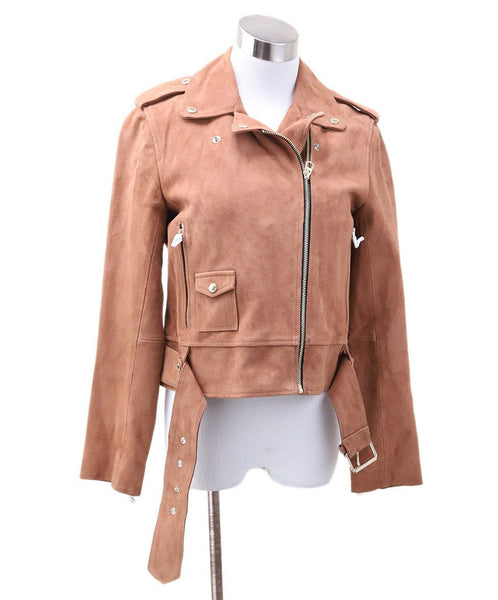 Sandro Brown Suede Jacket