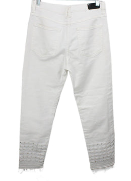 Sandro White Denim Studs Pants 2