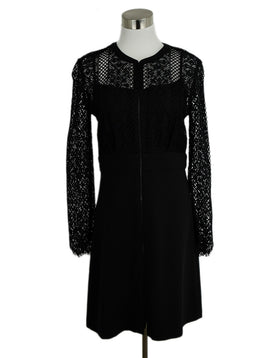 Sandro Black Lace Polyamide Dress 1