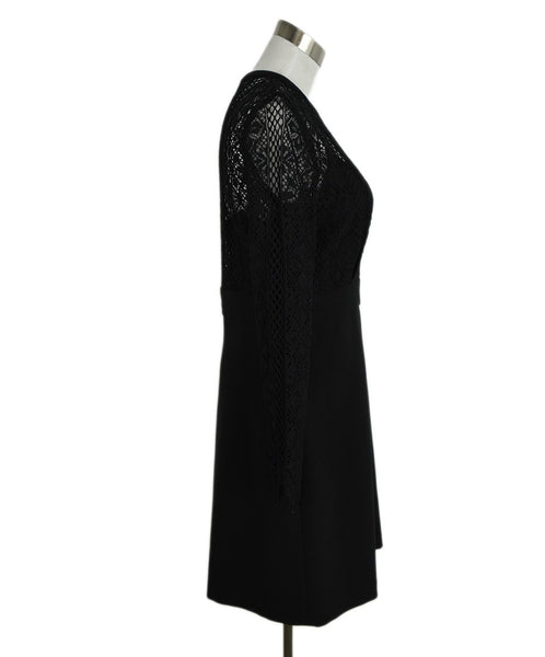 Sandro Black Lace Polyamide Dress 2