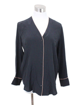Sandro Black Silk Top