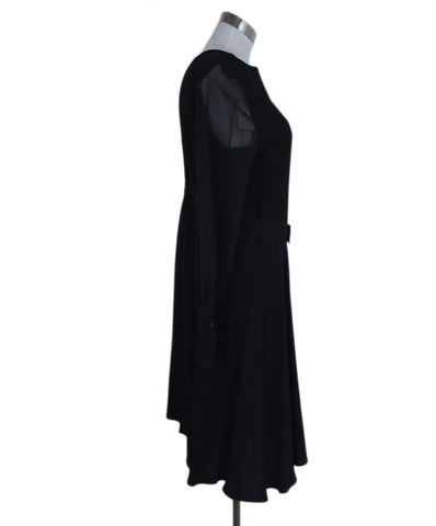 Sandro Black Viscose Dress 1
