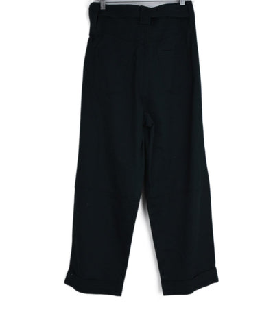 Sandro Green Cotton W/Belt Pants 1