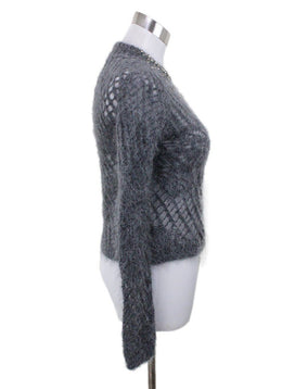 Scervino Grey Charcoal Mohair Polyamide Rhinestones Sweater 1