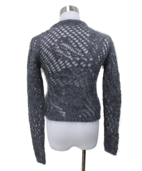 Scervino Grey Charcoal Mohair Polyamide Rhinestones Sweater 2