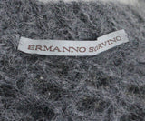 Scervino Grey Charcoal Mohair Polyamide Rhinestones Sweater 4