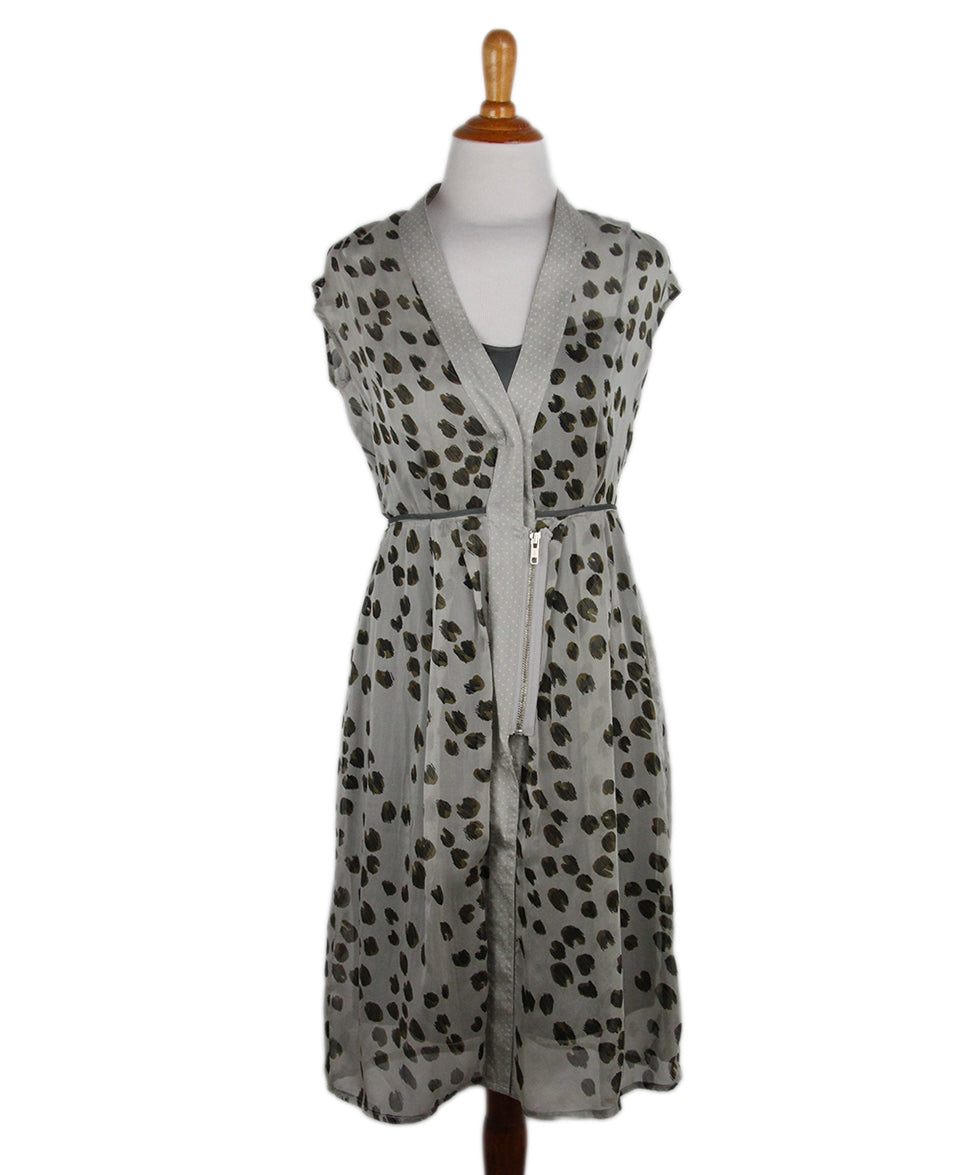 Schumacher Brown Grey Animal Print Dress 1