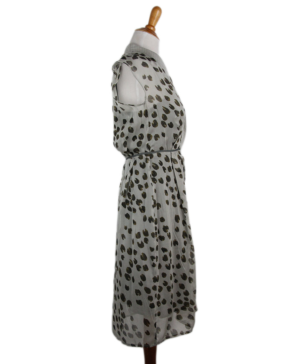 Schumacher Brown Grey Animal Print Dress 2