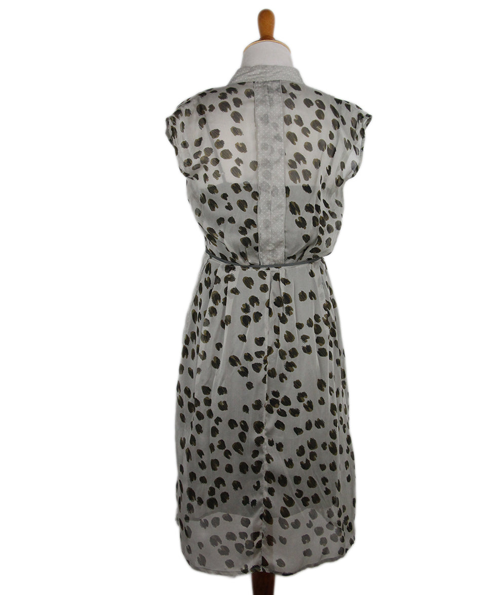 Schumacher Brown Grey Animal Print Dress 3