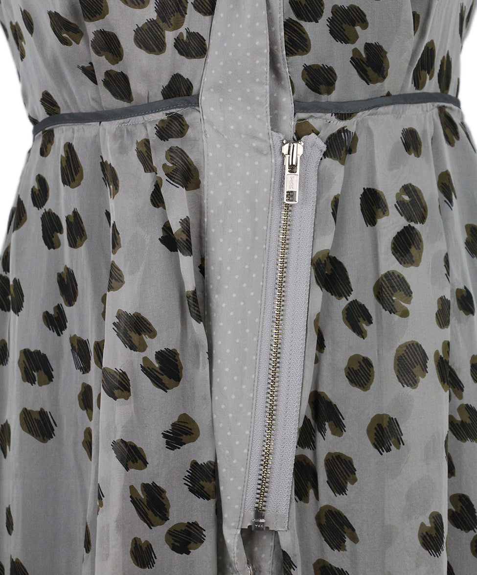 Schumacher Brown Grey Animal Print Dress 6