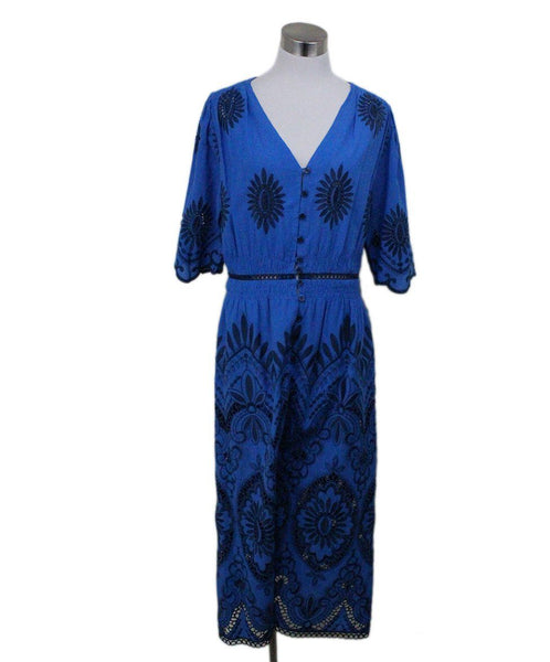 Sea New York Blue Embroidery Dress