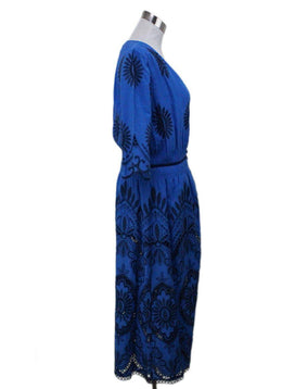 Sea New York Blue Embroidery Dress 1