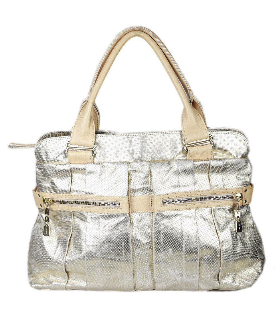 See By Chloe  Gold Distressed Leather Handbag