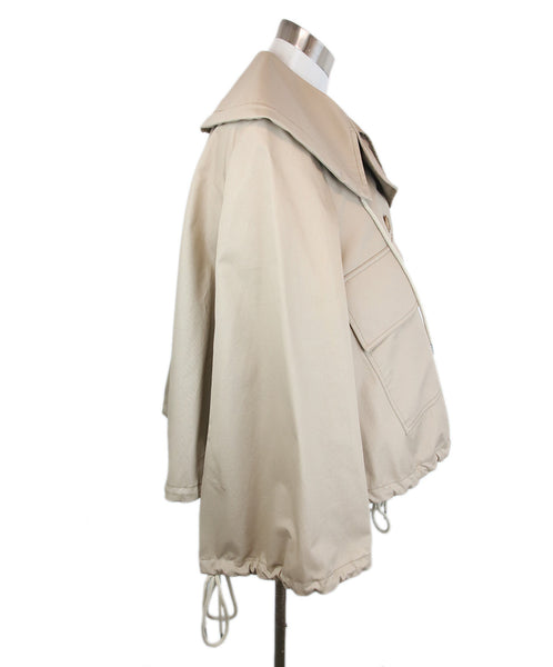See By Chloe Neutral Khaki Cotton Jacket Size 6