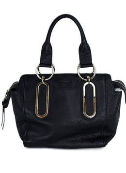 See By Chloe Black Leather Satchel Handbag 1