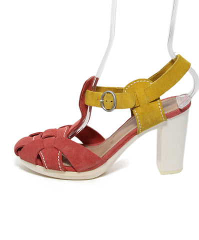 See By Chloe Pink Mustard Suede Sandals 1