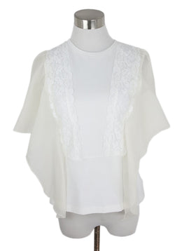 See By Chloe White Cotton Lace Top 1