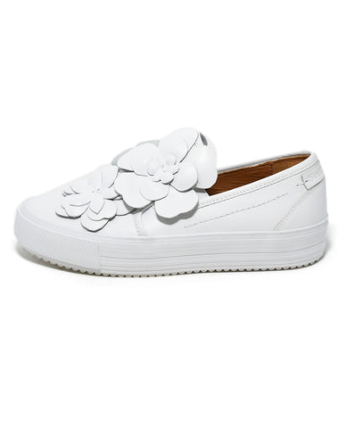 See By Chloe White Leather Floral Applique Sneakers 1