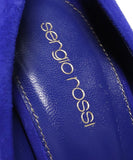 Sergio Rossi Purple Blue Suede Bag Heels 7