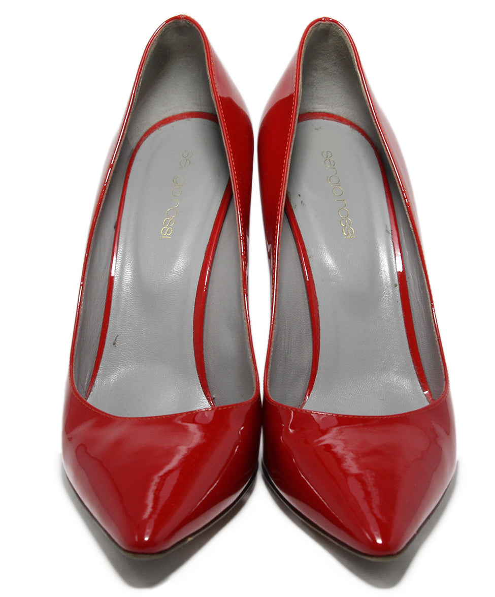 Sergio Rossi Red Patent Leather Shoes 4