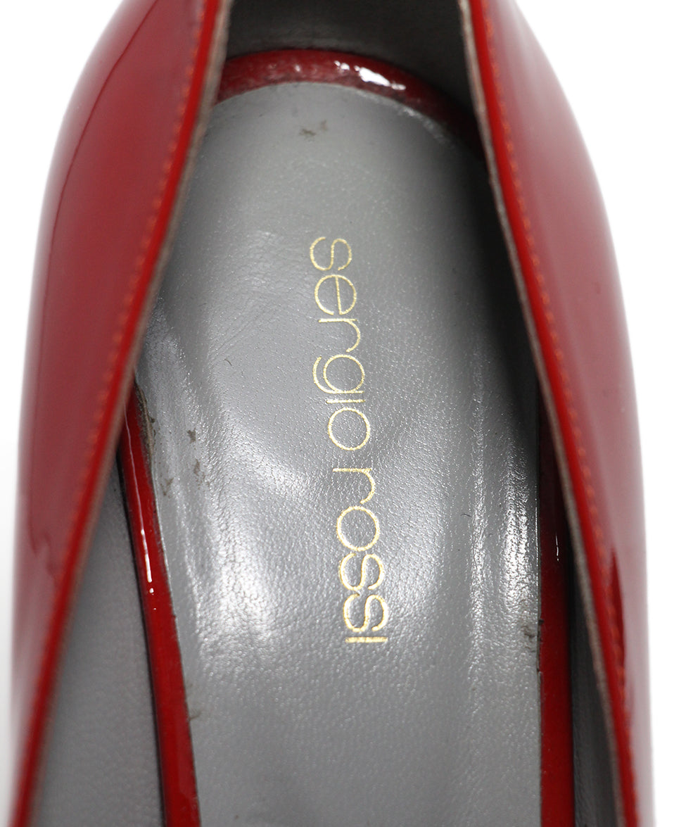Sergio Rossi Red Patent Leather Shoes 7