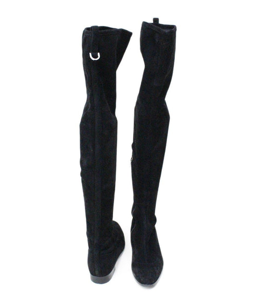Sergio Rossi Nero Black Suede Over The Knee Boots