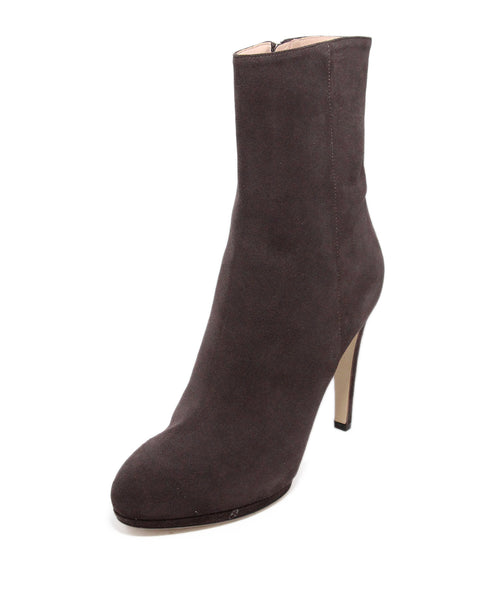 Sergio rossi brown coffee suede Booties 1
